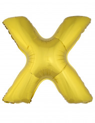 Balão alumínio dourado gigante letra X 1m