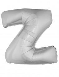 Balão alumínio prateado gigante letra Z 1m
