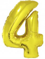 Balão gigante número 4 dourado 1 m