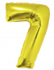 Balão gigante número 7 dourado 1 m