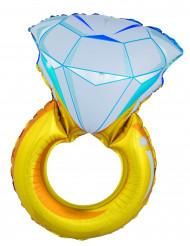 Balão gigante anel diamante 105 cm