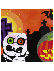 20 Guardanapos de papel monstros Halloween