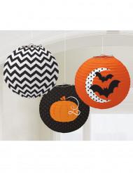 3 Lanternas com motivos de Halloween
