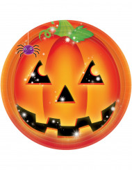 8 Pratos abóbora Halloween