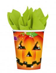 8 Copos abóbora Halloween