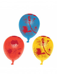 6 Balões de látex ensanguentados Halloween
