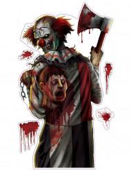 Adesivo Palhaço sangrento Halloween