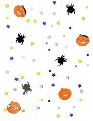 Confetis abóbora e aranha Halloween