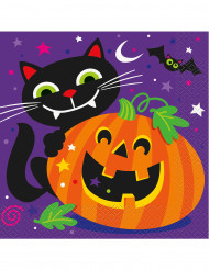 16 Guardanapos Abóbora Halloween