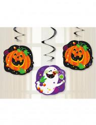 3 Decorações para pendurar abóbora Halloween