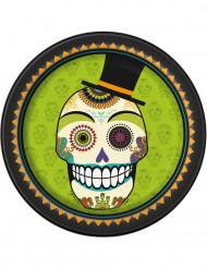 8 Pratos de cartão Day of the dead