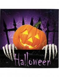 20 Guardanapos abóbora Halloween