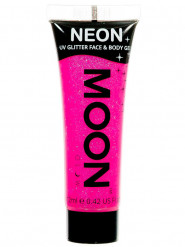 Gel rosto e corpo brilhantes cor-de-rosa UV Moonglow©