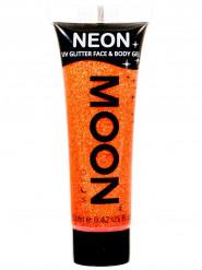 Gel rosto e corpo brilhantes cor de laranja UV Moonglow©