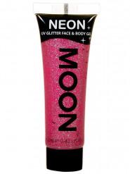 Gel rosto e corpo brilhantes cor-de-rosa UV Moonglow© 12 ml