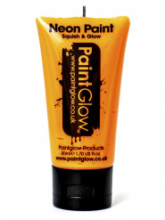 Gel rosto e corpo cor de laranja fluo UV 50ml