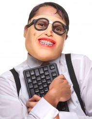 Meia Máscara de látex geek adulto