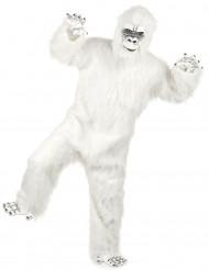 Disfarce luxo Yeti branco adulto