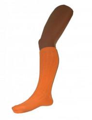 Meias cor de laranja fluo compridas adulto