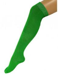 Meias compridas verdes fluo adulto