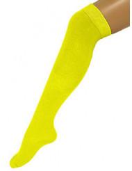 Meias compridas amarelas fluo adulto