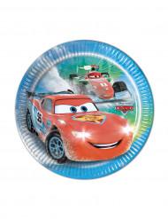 8 Pratos pequenos de cartão Cars Ice Racers™