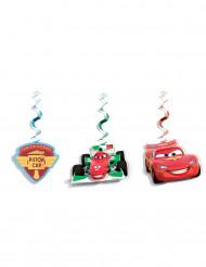 3 Decorações para pendurar Cars Ice™ 70 cm