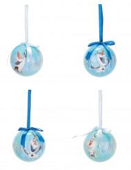 4 Bolas de Natal Olaf™ da Frozen™ 7.5 cm