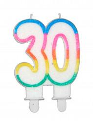 Vela de aniversário número 30