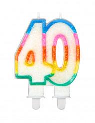 Vela de aniversário número 40