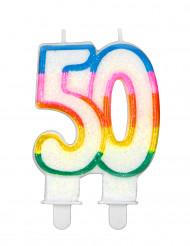Vela de aniversário número 50