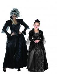 Disfarce de casal condessa gótica mãe e filha Halloween