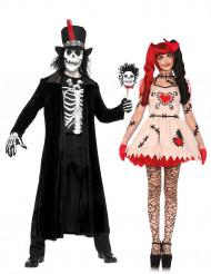 Disfarce de casal vudu Halloween