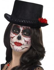 Chapéu alto preto adultoDia de los muertos