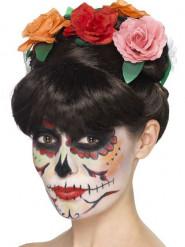 Peruca com rosas mulher Dia de los muertos