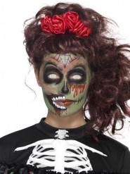 Kit maquilhagem zombie mulher Dia de los muertos