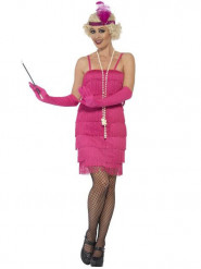 Fato Charlestone cor-de-rosa mulher