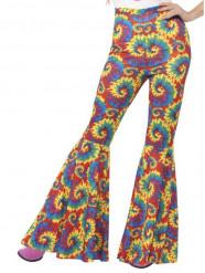 Calças hippie coloridas mulher