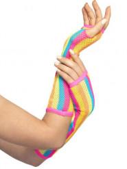 Miténes de rede arco-íris mulher