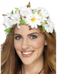 Coroa de flores margaridas mulher