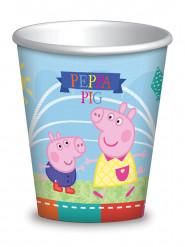 8 Copos de cartão Peppa Pig™ 260 ml