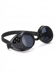 Óculos pretos biker plástico adulto