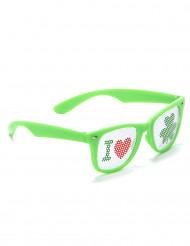 Óculos verdes São Patrício plástico adulto