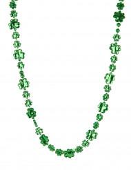 Colar trevo verde brilhante São Patrício adulto