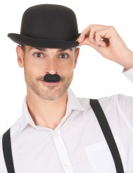 Bigode Charlie Chaplin preto adulto