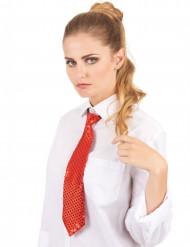Gravata vermelha com lantejoulas adulto