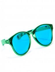 Óculos gigantes verdes adulto
