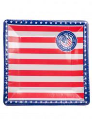 8 Pratos de cartão USA