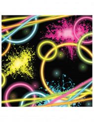 16 Guardanapos em papel  Glow Party 16 cm