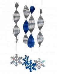 4 Decorações espiral flocos de neve